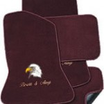 Custom Floor Mats - Maroon Eagle